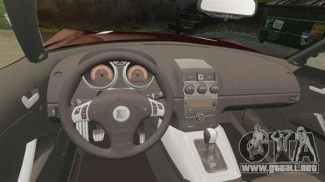Saturn Sky Red Line Turbo para GTA 4 vista interior