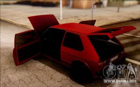 Volkswagen Golf Mk1 TAS para la visión correcta GTA San Andreas
