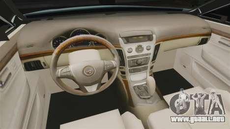 Cadillac CTS SW 2010 para GTA 4 vista interior