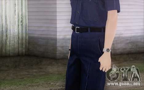 GTA 5 Police Woman para GTA San Andreas tercera pantalla
