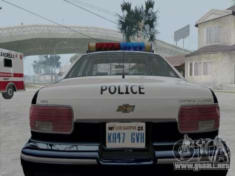 Chevrolet Caprice LVPD 1991 para la visión correcta GTA San Andreas