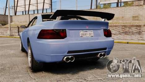 GTA V Zion XS Tuner para GTA 4 Vista posterior izquierda