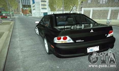 Mitsubishi Lancer Evo IX para la vista superior GTA San Andreas