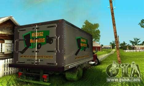 GMC Top Kick C4500 Dryvan House Movers 2008 para visión interna GTA San Andreas