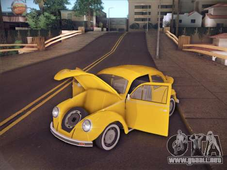 Volkswagen Käfer para vista inferior GTA San Andreas