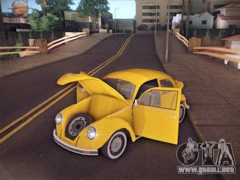 Volkswagen Käfer para vista inferior GTA San Andreas