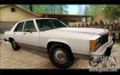 Ford LTD Crown Victoria 1987 para GTA San Andreas vista hacia atrás
