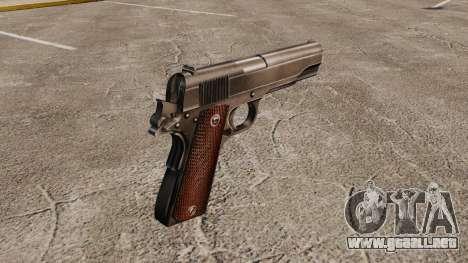 V4 pistola Colt M1911 para GTA 4 segundos de pantalla