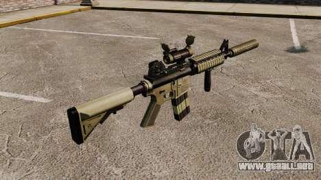 Carabina M4 con silenciador v1 para GTA 4 segundos de pantalla
