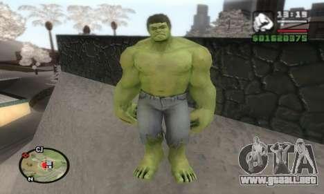 Hulk para GTA San Andreas segunda pantalla