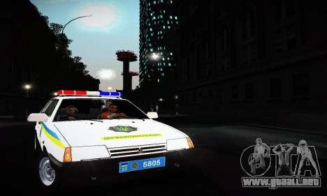 VAZ 2108 Ucrania REC para GTA San Andreas left