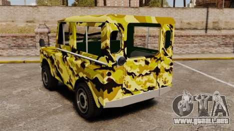 Land Rover Defender Antiguo para GTA 4 Vista posterior izquierda