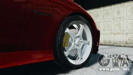 Mercedes-Benz CLS AMG para GTA 4 vista hacia atrás