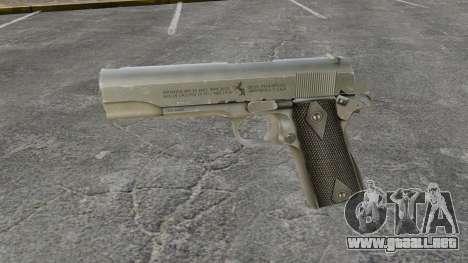 V3 pistola Colt M1911 para GTA 4 tercera pantalla