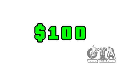 Puntuación verde de dólares para GTA 4