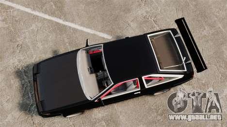 Toyota Sprinter Trueno AE86 Drifting para GTA 4 visión correcta
