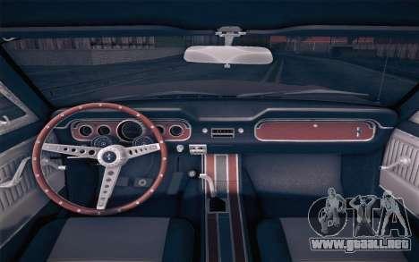 Ford Mustang GT 289 Hardtop Coupe 1965 para la visión correcta GTA San Andreas