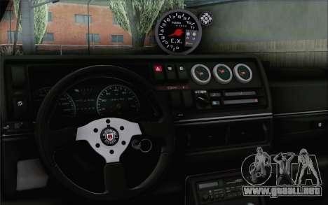 Volkswagen Jetta Mk2 para GTA San Andreas vista posterior izquierda
