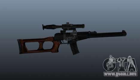 Rifle de francotirador VSS Vintorez para GTA 4 tercera pantalla