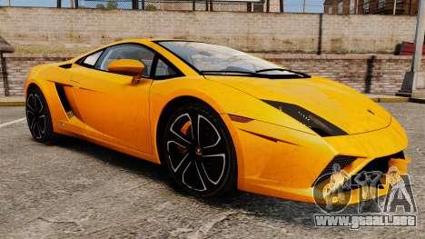 Lamborghini Gallardo 2013 para GTA 4 vista lateral