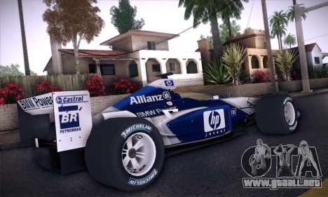BMW Williams F1 para GTA San Andreas vista hacia atrás