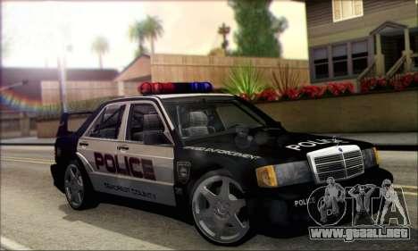 Mercedes-Benz 190E Evolution Police para la visión correcta GTA San Andreas