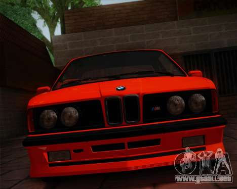 BMW E24 M635 1984 para vista lateral GTA San Andreas