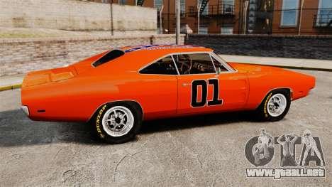Dodge Charger 1969 General Lee v2.0 HD Vinyl para GTA 4 left