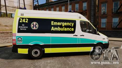 Mercedes-Benz Sprinter Australian Ambulance ELS para GTA 4 left