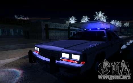 Police North Yankton para GTA San Andreas vista hacia atrás