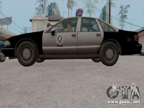 Chevrolet Caprice LVPD 1991 para vista lateral GTA San Andreas