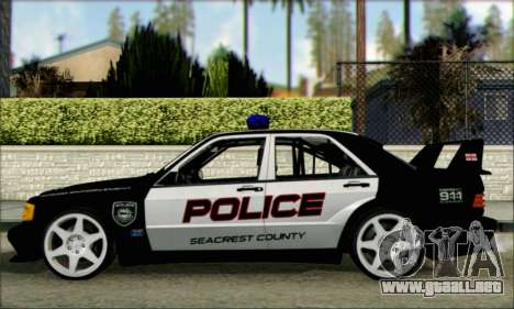 Mercedes-Benz 190E Evolution Police para GTA San Andreas left