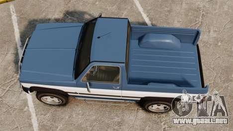 Rancher 1997 para GTA 4 visión correcta