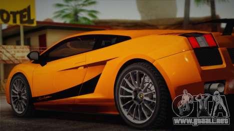 Lamborghini Gallardo Superleggera para GTA San Andreas left