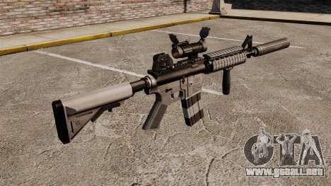 Carabina M4 con silenciador v2 para GTA 4 segundos de pantalla