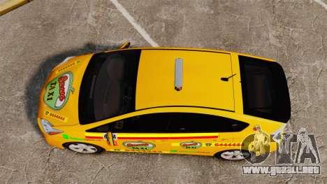 Toyota Prius 2011 Warsaw Taxi v1 para GTA 4 visión correcta