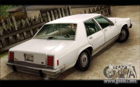 Ford LTD Crown Victoria 1987 para GTA San Andreas left