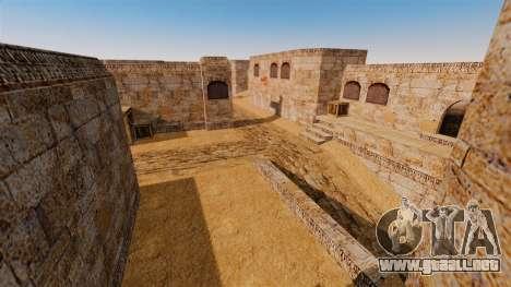 Ubicación del counter-strike De_Dust2 para GTA 4 octavo de pantalla