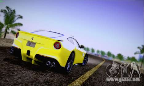 Ferrari F12 Berlinetta Horizon Wheels para GTA San Andreas vista posterior izquierda