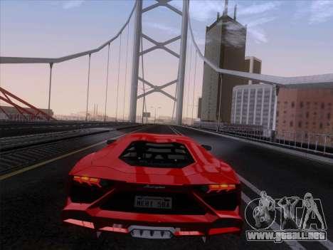 Lamborghini Aventador LP720-4 2013 para visión interna GTA San Andreas