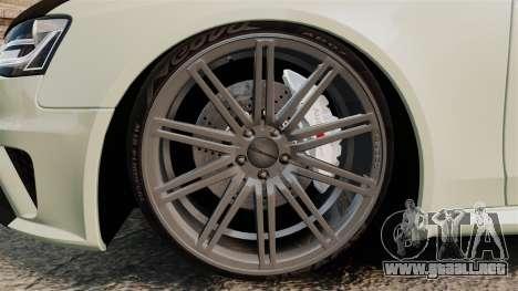 Audi RS4 Avant VVS-CV4 2013 para GTA 4 vista hacia atrás