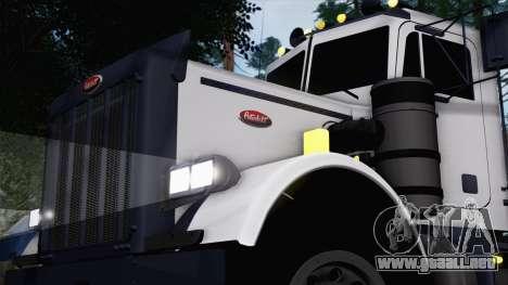 Peterbilt 379 Papa Clyde para GTA San Andreas vista posterior izquierda