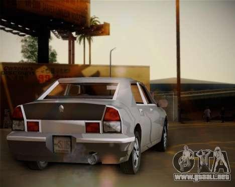 GTA III Kuruma para GTA San Andreas vista posterior izquierda