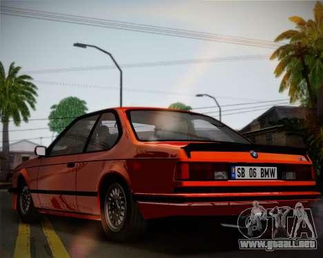 BMW E24 M635 1984 para visión interna GTA San Andreas