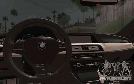 BMW M5 F10 v1 para la visión correcta GTA San Andreas
