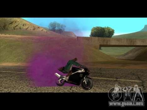 El nuevo color de humo por debajo de las ruedas para GTA San Andreas tercera pantalla
