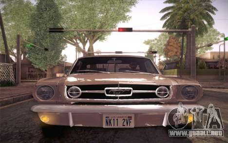 Ford Mustang GT 289 Hardtop Coupe 1965 para la vista superior GTA San Andreas