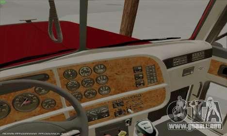 Peterbilt 379 Dump Truck para visión interna GTA San Andreas