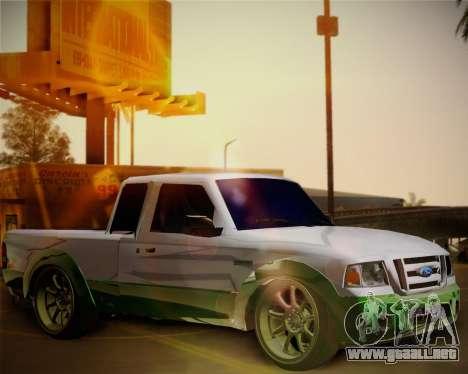 Ford Ranger 2005 para visión interna GTA San Andreas