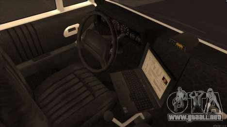 Enforcer HD from GTA 3 para GTA San Andreas vista hacia atrás
